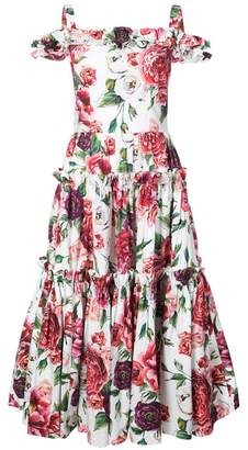 Dolce & Gabbana Floral Print Tier Dress
