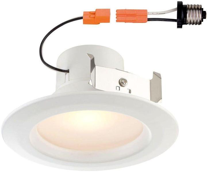 EnviroLite Standard Retrofit 4 in. White Recessed Trim Soft LED Ceiling Light with 91 CRI, 3500K (64-Pack)