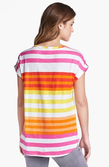 Vince Camuto Two by Multi Stripe Tee