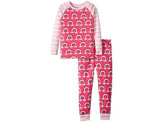 Hatley Pretty Rainbows Organic Cotton Pajama Set (Toddler/Little Kids/Big Kids)