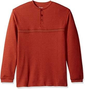 Haggar Men's Long Sleeve Hi-Definition Ottoman Knit Henley