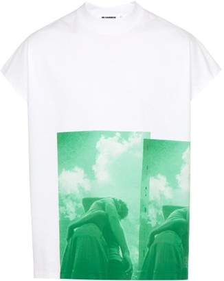 Jil Sander Photo Print Cotton T Shirt - Mens - Green