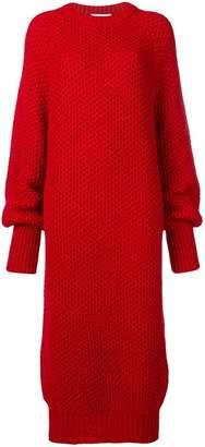 Marios crochet knit long dress