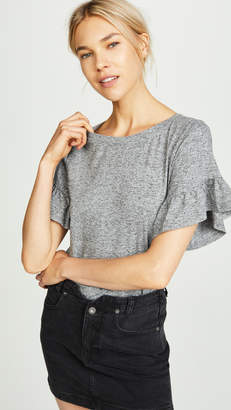 BB Dakota Space Dye Ruffle Sleeve Tee