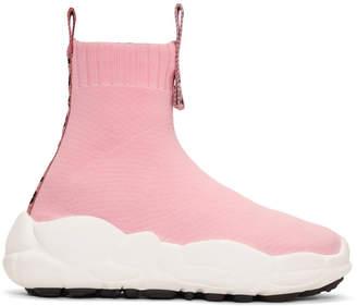Versus Pink Ribbons Sock Sneakers