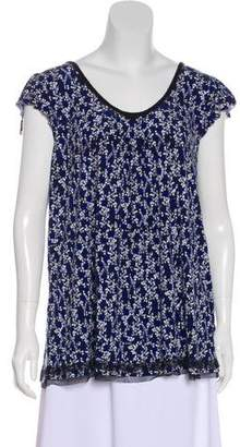 Ellen Tracy Printed Short Sleeve Top