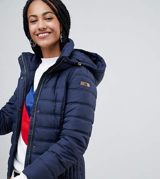 Esprit Short Padded Jacket With Hood in Navy