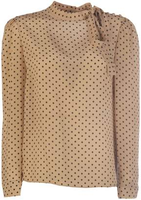 RED Valentino Polka Dotted Long-sleeved Blouse
