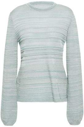 M Missoni Metallic Pointelle, Ribbed And Stretch-knit Top