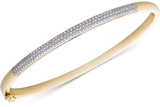 Macy's Diamond Pavé Hinged Bangle Bracelet (1/2 ct. t.w.)