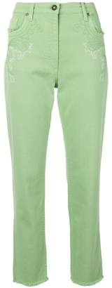 Etro embroidered slim jeans