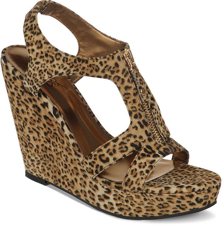 Carlos by Carlos Santana Shoes, Pursuit Platform Wedge Sandals