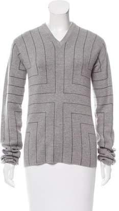 Edun Striped V-Neck Sweater