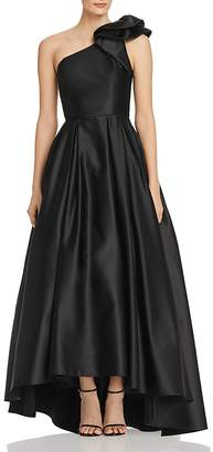 Avery G One-Shoulder Satin Ball Gown