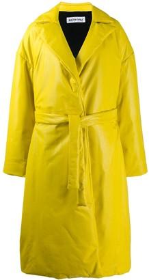 Balenciaga padded wrap trench coat