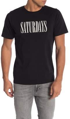 Saturdays NYC Condensed Short Sleeve Tee