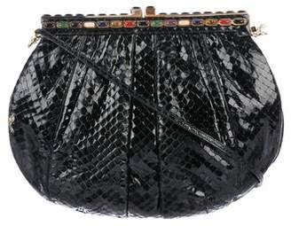 Judith Leiber Embellished Snakeskin Crossbody Bag