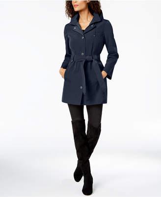 London Fog Belted Hooded Raincoat