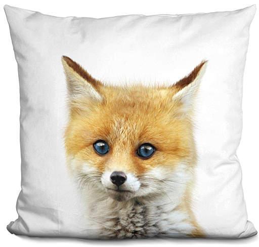 Little Pitti Baby Fox Throw Pillow