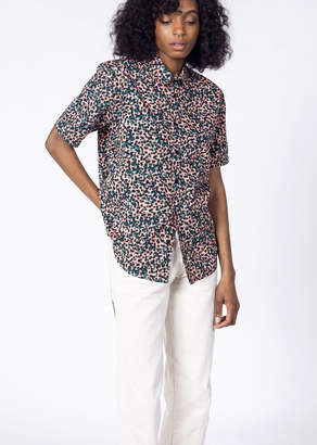 RVCA Barrow S/S Button Up | Wildfang - Barrow S/S Button Up - BLUE - LARGE