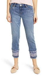 Jag Jeans Carter Layered Crop Hem Girlfriend Jeans