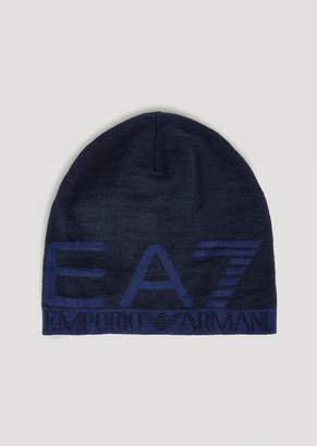 Emporio Armani Knitted Hat With Ea7 Jacquard Logo