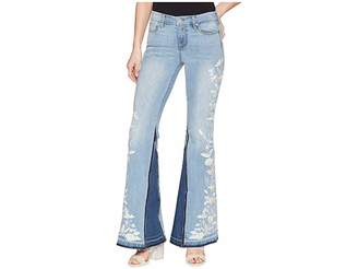 Liverpool LVPL by Farrah Super Flare with Embroidered in Vintage Super Comfort Stretch Denim in Beverly Wash