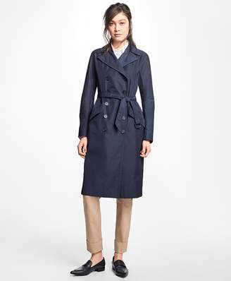 Brooks Brothers Water-Resistant Double-Faced Twill Trench Coat