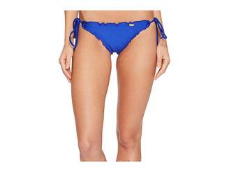 Luli Fama Cosita Buena Wavey Brazilian Tie Side Ruched Back Bikini Bottom