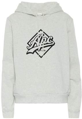 A.P.C. Printed cotton hoodie