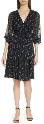 BA&SH Memory Floral Silk Chiffon Dress