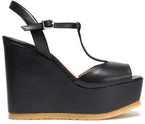 Castaner Leather Platform Wedge Sandals