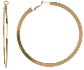 Ettika Flat Large Hoop Earrings