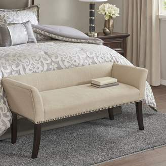 Wrought Studio Riche Accent Upholstered Bench Nailhead Detail: Black,