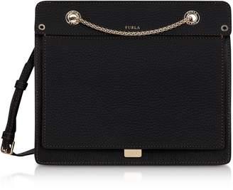 Furla Like Small Leather Crossbody Bag W/chain Strap