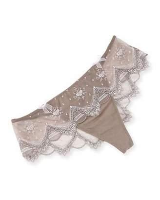 Lise Charmel Seychelles en Vue Lace Boyshorts, Beige $139 thestylecure.com
