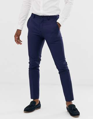 Jack and Jones suit pant in super slim fit navy