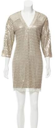Reed Krakoff Sequined Silk Dress
