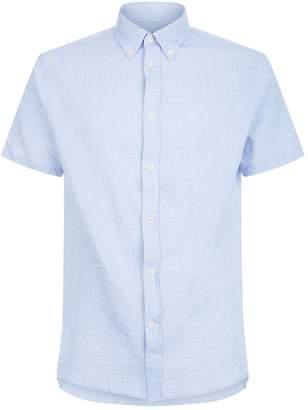 J. Lindeberg Daniel Seersucker Shirt