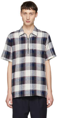 Paul Smith Purple Cotton and Linen Plaid Shirt