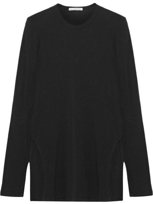 James Perse - Brushed Cotton-blend Jersey Top - Black $145 thestylecure.com