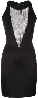 Balmain embellished fringe dress