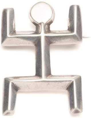 Lulu Frost Vintage Modernist Stick Figure Sterling Silver Brooch