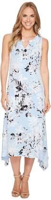 Calvin Klein Crew Neck Printed Maxi Dress Women's Dress
