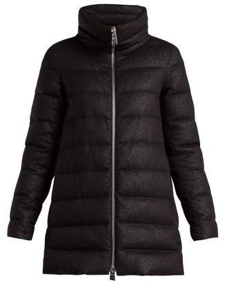 Herno Down Quilted Technical Jersey Jacket - Womens - Black
