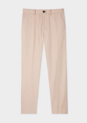 Paul Smith Men's Standard-Fit Beige Organic-Cotton Chinos