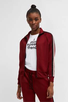 French Connenction Yvonne Jersey Zip Up Jacket
