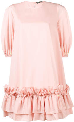 Alexander McQueen oversized ruffle hem dress