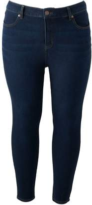 Lauren Conrad Plus Size High-Waisted Skinny Ankle Jeans