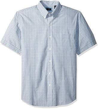 Arrow 1851 Men's Hamilton Poplin Short Sleeve Button Down Shirt